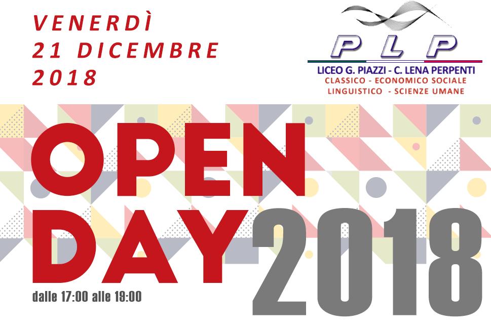 Open Day 21 Dicembre 2018